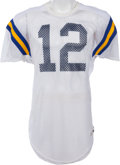 Football Collectibles:Uniforms, 1983-84 Steve Bono Game Worn UCLA Bruins Jersey, MEARS A10. ...