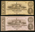 Confederate Notes:1862 Issues, T52 $10 1862, Two Examples.. ... (Total: 2 notes)