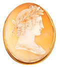 Estate Jewelry:Cameos, Gold, Shell Cameo. ...