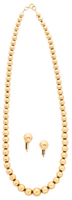 Gold Bead Jewelry Suite