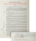 Autographs:Others, 1948 Joe DiMaggio Signed New York Yankees Contract....