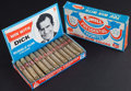 Non-Sport Cards:Unopened Packs/Display Boxes, 1968 Swell Bubble Gum Cigars Counter Display Box. ...