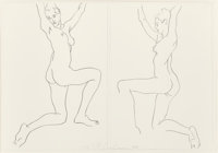 ROBERT GRAHAM (American, 1938-2008) Untitled (two works), 1994 Lithograph on paper Each: 15 x 21