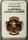 Modern Bullion Coins: , 2000-W G$50 One-Ounce Gold Eagle PR70 Ultra Cameo NGC. NGC Census: (585). PCGS Population (141). Numismedia Wsl. Price for...