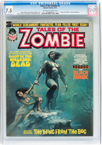 Tales of the Zombie #1, 3, and 5 CGC Group (Marvel, 1973-74) Off-white to white pages.... (Total: 3 Comic Books)