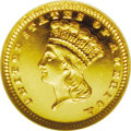 Proof Gold Dollars: , 1885 G$1 PR65 Cameo ★ NGC. Production of proof gold dollars ratcheted up to 1,105 pieces in 1...