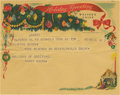 Movie/TV Memorabilia:Memorabilia, Harry Brown Christmas Telegram to Clifton Webb. A Western Uniontelegram dated December 24, 1953, extending season's greetin...(Total: 1 Item)