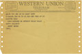 Movie/TV Memorabilia:Memorabilia, Harry Brown Christmas Telegram to Clifton Webb. A Western Uniontelegram dated December 23, 1963, extending holiday greeting...(Total: 1 Item)