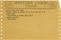 Movie/TV Memorabilia:Memorabilia, Harry Brown Telegram to Clifton Webb. A Western Union telegramdated December 24, 1962, to actor Webb from Greta Garbo's n...(Total: 1 Item)