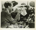 """Movie/TV Memorabilia:Autographs and Signed Items, Bette Davis and Paul Henreid Signed """"Now, Yoyager"""" Photo. A b&w 8"""" x 10"""" photo still from the 1942 drama, signed by stars Be... (Total: 1 Item)"""