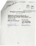 Movie/TV Memorabilia:Autographs and Signed Items, Demi Moore Signed Contract. An agreement dated October 15, 1993, engaging Demi Moore to appear in a soap commercial, initial... (Total: 1 Item)