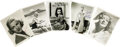 """Movie/TV Memorabilia:Autographs and Signed Items, Assorted Signed Actress Photos. Set of five b&w 8"""" x 10"""" photossigned by Deborah Kerr, Irene Dunne, Claire Trevor, Virginia...(Total: 1 Item)"""