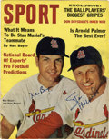 Autographs:Letters, Stan Musial and ken Boyer Signed Magazine. The September 1962 issueof Sport magazine featured St. Louis teammates Ken Boye...