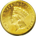 Three Dollar Gold Pieces: , 1880 $3 MS64 PCGS. One thousand 1880 three dollar gold businessstrikes were produced. However, because the date was acquir...