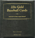 Baseball Cards:Sets, The Danbury Mint 22kt Gold Baseball Cards Collection. Set 1consists of 50 embossed 22kt. gold-foil cards. Highlight from t...
