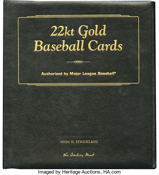 The Danbury Mint 22kt Gold Baseball Cards Collection Set 1 Lot