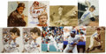 Autographs:Letters, Single Signed Hall of Fame Photographs Lot of 9. Lot consists of 9signed photographs of members of the Baseball Hall of F...