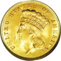 Three Dollar Gold Pieces: , 1887 $3 MS63 PCGS. Although its mintage of 6,000 pieces is higherthan both the 1888 and 1889, the 1887 three dollar gold p...
