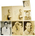 Movie/TV Memorabilia:Autographs and Signed Items, Assorted Vintage Actor-Signed Photos. A set of seven vintageb&w autographed promo photos of Betty Grable, Marion Davies,Je... (Total: 1 Item)