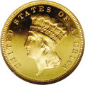 Proof Three Dollar Gold Pieces: , 1887 $3 PR66 ★ Ultra Cameo NGC. The proof mintage for this date wasjust 160 coins, and examp...