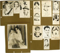 Movie/TV Memorabilia:Autographs and Signed Items, Richard Dix and Others Signed Original Celebrity Sketches andPhotos. A selection of 15 small pen-and-ink sketches of variou...(Total: 1 Item)