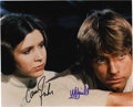 "Movie/TV Memorabilia:Autographs and Signed Items, ""Star Wars"" Photo Signed by Carrie Fisher and Mark Hamill. A color8"" x 10"" still from the original Star Wars movie, sig...(Total: 1 Item)"