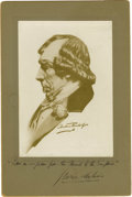 "Movie/TV Memorabilia:Autographs and Signed Items, George Arliss Signed Disraeli Portrait. A 5.75"" x 8.5"" print of a sketch portrait of Benjamin Disraeli, inscribed and signed... (Total: 1 Item)"