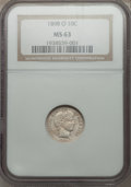 Barber Dimes: , 1898-O 10C MS63 NGC. NGC Census: (16/26). PCGS Population (13/27).Mintage: 2,130,000. Numismedia Wsl. Price for problem fr...