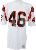 Football Collectibles:Uniforms, 1978-83 Pete Johnson Game Worn Cincinnati Bengals Jersey, MEARS A10....