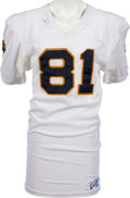 Football Collectibles:Uniforms, 1984-87 Tim Brown Game Worn Notre Dame Fighting Irish Jersey, MEARS A10....