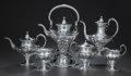 Silver Holloware, American:Tea Sets, A SEVEN PIECE AMERICAN SILVER TEA AND COFFEE SERVICE, Galt &Bro., Inc., Washington, D.C., circa 1930. Marks to all: GALT ...(Total: 7 Items)