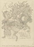 Fine Art - Work on Paper:Drawing, GUILLAUME AZOULAY (Moroccan, b. 1949). Pair of AstrologicalStudies (Capricorn & Libra), circa 1994-96. Pen and pencilo... (Total: 2 Items)