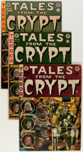 Golden Age (1938-1955):Horror, Tales From the Crypt Group (EC, 1952-55) Condition: AverageGD/VG.... (Total: 4 Comic Books)