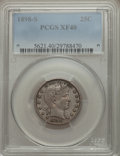 Barber Quarters: , 1898-S 25C XF40 PCGS. PCGS Population (8/82). NGC Census: (3/54). Mintage: 1,020,592. Numismedia Wsl. Price for problem fre...