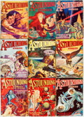 Books:Science Fiction & Fantasy, [Pulps]. Nine Issues of Astounding Stories. 1931. Originalprinted wrappers. Some edgewear and peeling to spine ends...(Total: 9 Items)