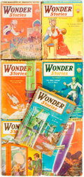 Books:Science Fiction & Fantasy, [Pulps]. Seven Issues of Wonder Stories. 1931. Original printed wrappers. Some edgewear and peeling to spine ends. V... (Total: 7 Items)