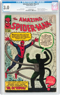 Silver Age (1956-1969):Superhero, The Amazing Spider-Man #3 (Marvel, 1963) CGC GD/VG 3.0 Cream to off-white pages....