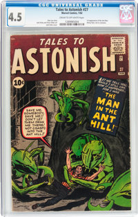 Tales to Astonish #27 (Marvel, 1962) CGC VG+ 4.5 Cream to off-white pages