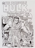 Original Comic Art:Covers, Mike DeCarlo Incredible Hulk #1 Cover Recreation OriginalArt (2014)....