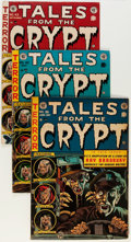 Golden Age (1938-1955):Horror, Tales From the Crypt #36, 42, and 43 Group (EC, 1953-54) Condition:Average VG.... (Total: 3 Comic Books)
