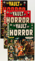 Golden Age (1938-1955):Horror, Vault of Horror #20, 33, and 38 Group (EC, 1952-54) Condition:Average VG/FN.... (Total: 3 Comic Books)