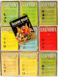 Books:Science Fiction & Fantasy, [Pulps]. Ten Issues of Unknown Worlds. 1941-1948. Original printed wrappers. Some edgewear and peeling to spines. Ve... (Total: 10 Items)