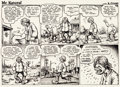 Original Comic Art:Comic Strip Art, Robert Crumb Mr. Natural Weekly Comic Strip #11 Original Art (Village Voice, 1976)....