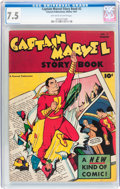 Golden Age (1938-1955):Superhero, Captain Marvel Story Book #2 (Fawcett Publications, 1947) CGC VF- 7.5 Off-white to white pages....