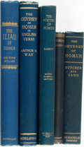 Books:Literature Pre-1900, [Homer]. Five Translations of Homer. Various publishers and dates. Original blue cloth bindings. Mile edgewear. Spine ends b... (Total: 5 Items)