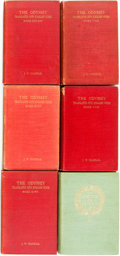 Books:Literature Pre-1900, [Homer]. Two Different Translations of The Odyssey. Variouspublishers and dates. Original cloth bindings. Mile ... (Total: 6Items)