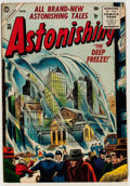 Golden Age (1938-1955):Science Fiction, Astonishing #40 (Atlas, 1955) Condition: FN....