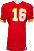 Football Collectibles:Uniforms, 1974-75 Len Dawson Game Worn Kansas City Chiefs Jersey, MEARS A10....
