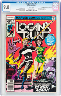 Logan's Run #6 Don/Maggie Thompson Collection pedigree (Marvel, 1977) CGC NM/MT 9.8 White pages