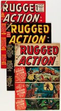 Golden Age (1938-1955):War, Rugged Action #1-4 Complete Set Group (Atlas, 1954-55) Condition:Average FN+.... (Total: 4 Comic Books)